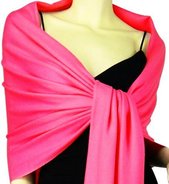 Dark Fuchsia Wrap Scarf Dark Fuchsia Silk Shawl. Soft Fashion Silk Long Scarf