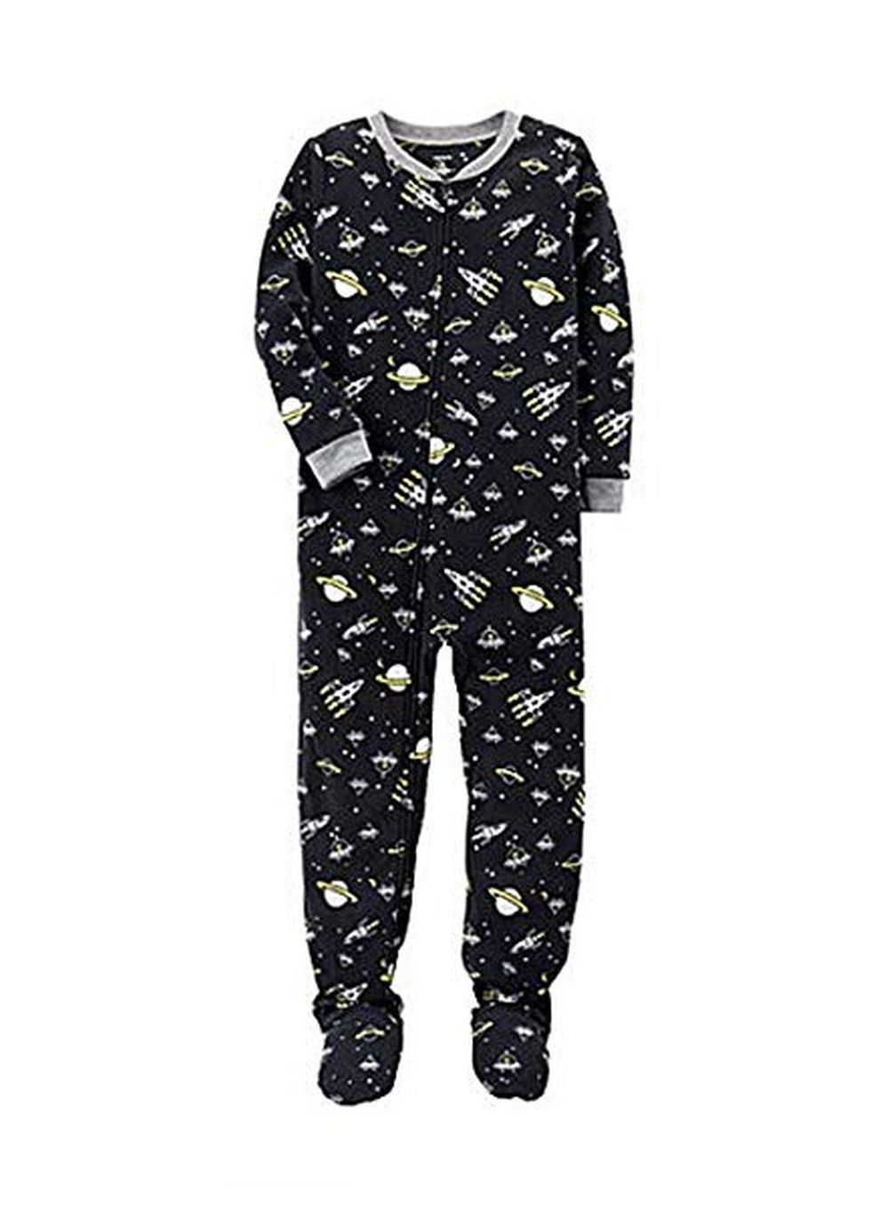 cf1a95aafe37 CARTER S BOY S SPACE Alien Spaceships Fleece Footed Pajama Sleeper ...