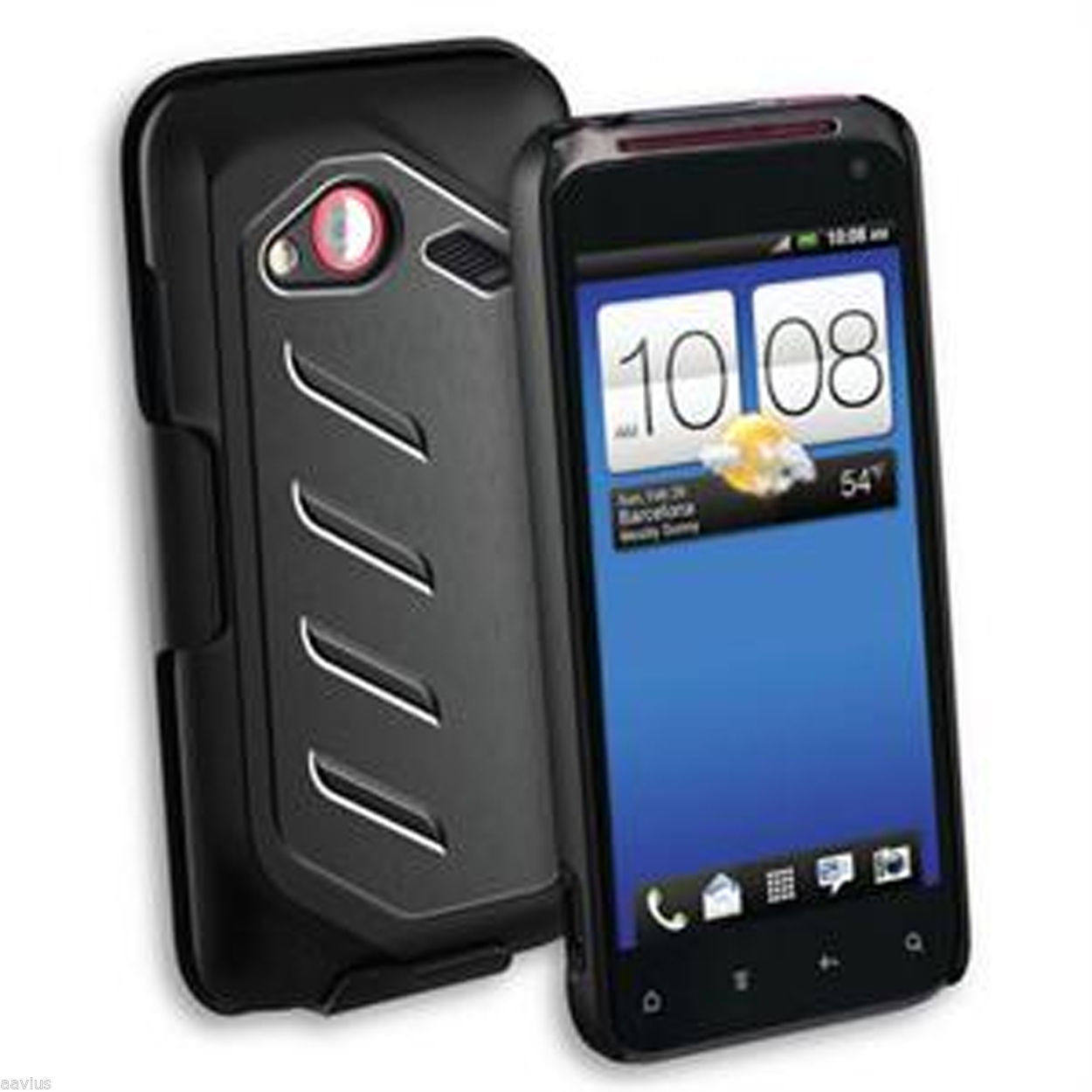 Qmadix Holster Snap Protective Hard Case w/Kickstands for HTC Incredible 4G