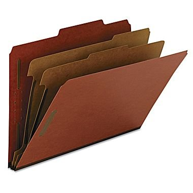 W.B Mason, SBC-90270, Red classification Letter Size folders, 2 partitions, 10 Count