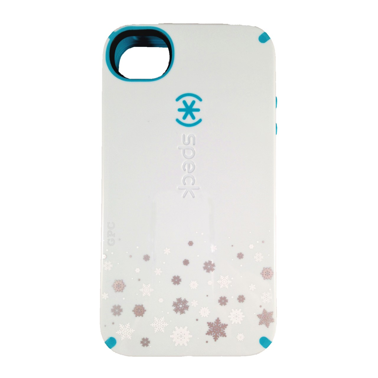 SPECK CandyShell Series Case for Apple iPhone 4/4S - Snow Fresh (Blue/Peacock)
