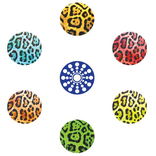 miButton AHB00101 miButton Home Button Sticker for iPod, iPhone, & iPad - Leopard
