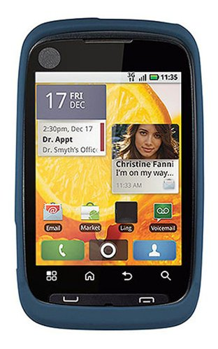 Qmadix Snap-On Cover for Motorola Citrus WX445 - Blue