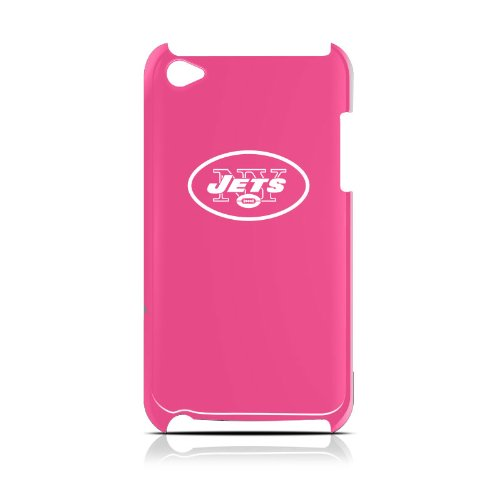 NFL New York Jets Varsity Jacket Hardshell Case for iPod Touch 4G, Pink, 4.4x2.4-Inch