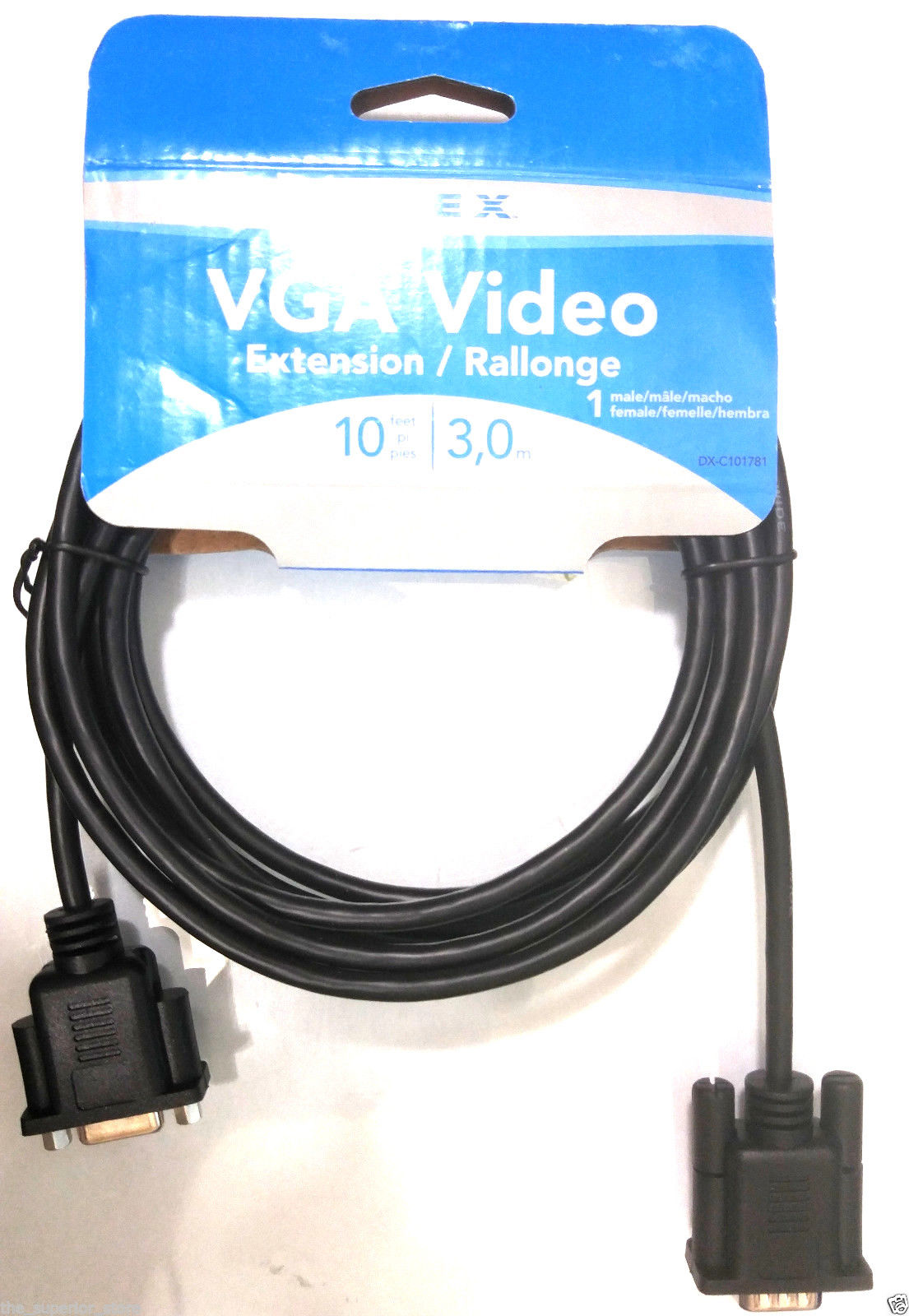 Dynex 10 ft, 3m VGA Display Extension Cable DX-C101781