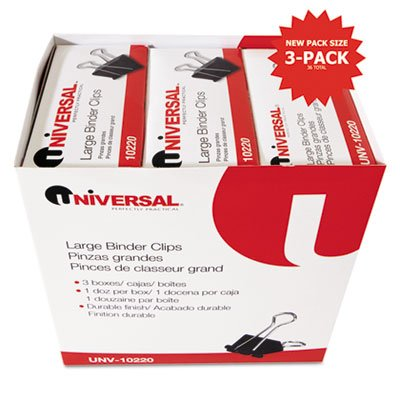 Universal Large Binder Clips UNV10220VP