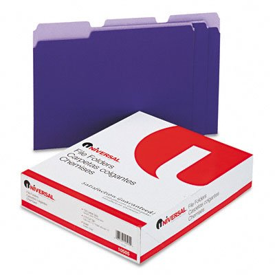 Universal® Colored Top Tab File Folders