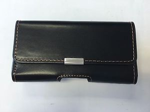 AGF Premium Black Leather Horizontal Case Any Medium Sized Device