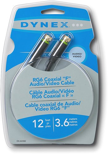 Dynex - 12ft G6 Coaxial A-V Cable