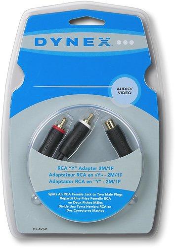 Dynex DX-AV241 - Video / audio splitter - RCA (M) - RCA (F) by Dynex