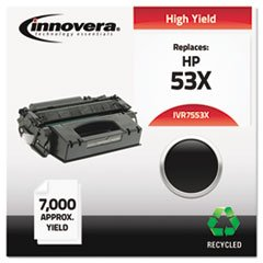 7553X Compatible, Remanufactured, Q7553X (53X) Laser Toner, 7000 Yield, Black
