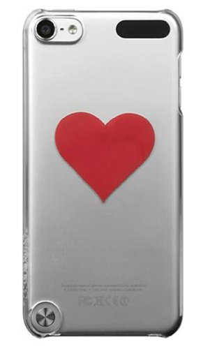 Incase - Snap Case for Apple iPod touch 5th Generation - Clear - Red