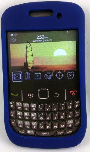 Qmadix Rubber Skin for BlackBerry Curve 2 8530, 9330 (Blue)
