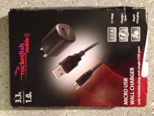 Rocketfish - Wall Charger Compatible with all Micro USB Devices
