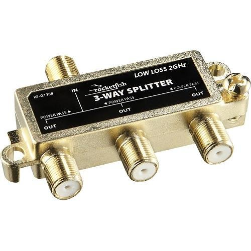 Rocketfish - 3-Way Coaxial Splitter