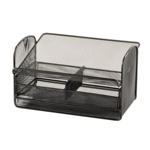 Safco Mesh Telephone Stand, 11.75 Inches Width x 7 Inches Height, Black Onyx, 1 per Carton (2160BL)