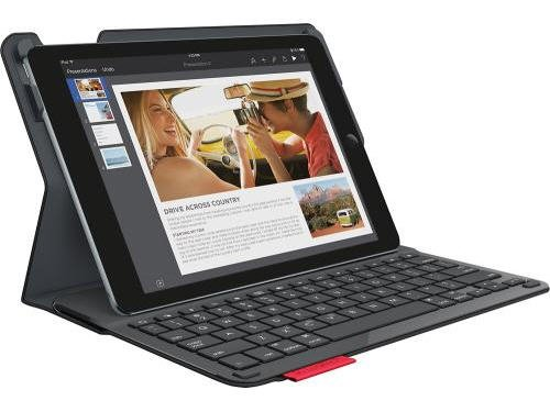 Logitech Type+ Protective Case with Integrated Keyboard for iPad Air 2, Black - Smooth Surface (920-006912)