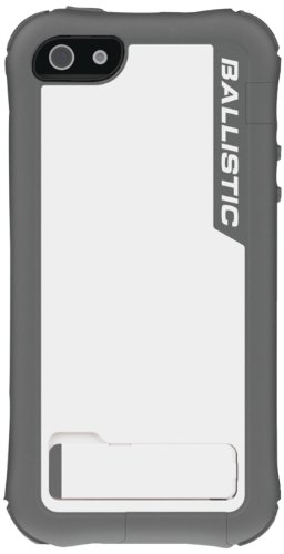Ballistic EV0993-M185 Every1 Case with Holster for iPhone 5 - 1 Pack - Retail Packaging - Gray/White