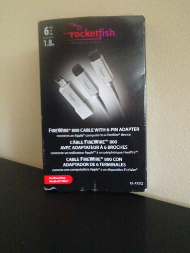 Rocketfish Mac/ PC FireWire 800 Cable w/adapter