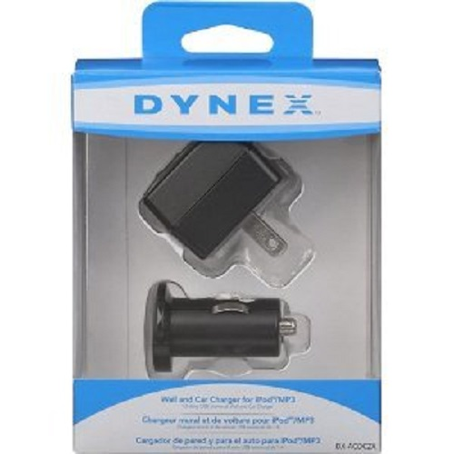 Dynex Compact Wall and Car Charger for iPod/MP3