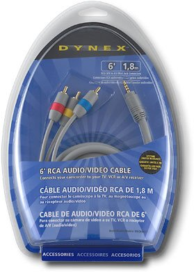 DynexTM 6' RCA Audio/Video Cable DX-DA100271