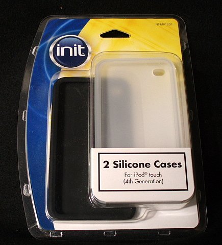 Init Silicone Case for 4th-Generation iPod Touch - Clear/Black (2-Pack)