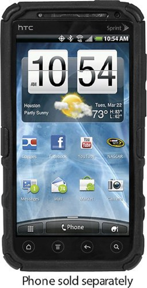 Platinum Series Cruiser Case for HTC EVO 3D Mobile Phones Black