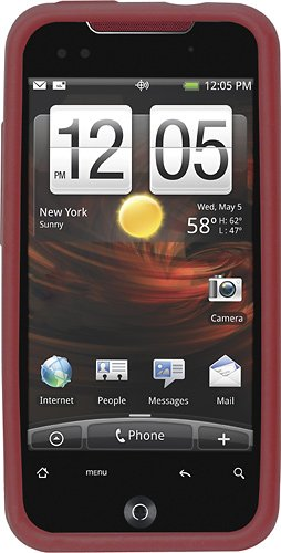 Rocketfish Mobile - HTC Incredible Snap On Cover Red - Red Model: RF-WR534