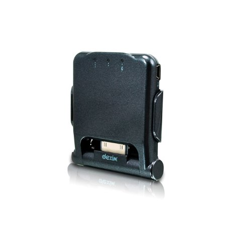 Dexim P-Flip Foldable Power Dock for iPhone 3GS/iPod Touch Charge and Sync - Pearl Black
