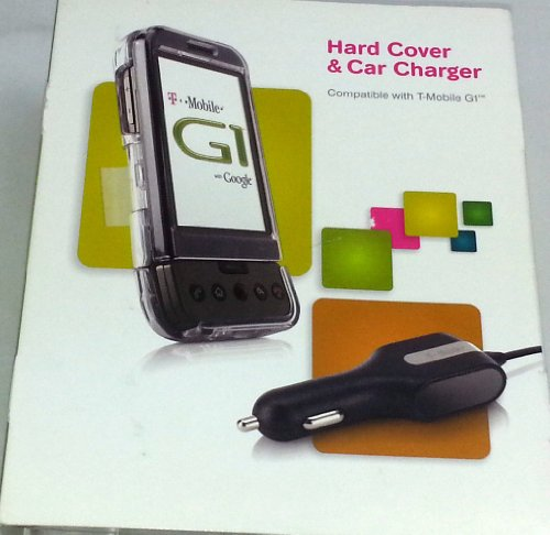 T-Mobille - HARD COVER & CAR CHARGER FOR T-MOBILE HTC G1 (CLEAR)