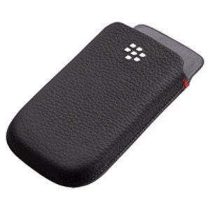 BlackBerry Leather Pocket for BlackBerry 9800 - Black