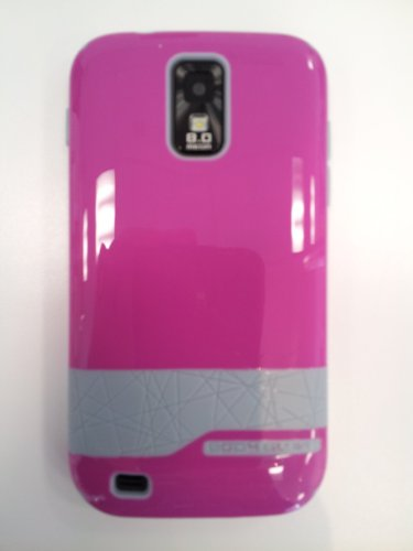 Body Glove Samsung Galaxy S II T989 T-Mobile Diamond Hard Shell Pink FUSCIA with Gray trim Raspberry silver