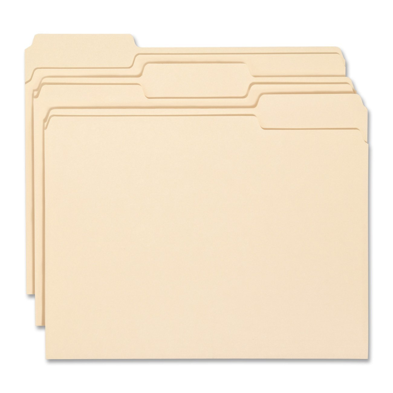 WB Mason 100 Manilla File folders 1/3 Cut 11pt