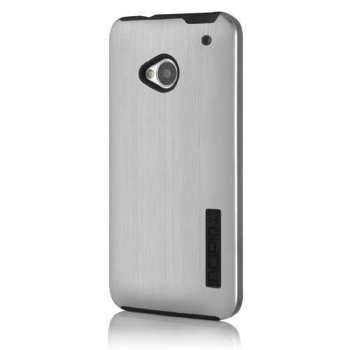Incipio HT-354 DualPro Shine Case for HTC One - 1 Pack - Retail Packaging - Silver/Black