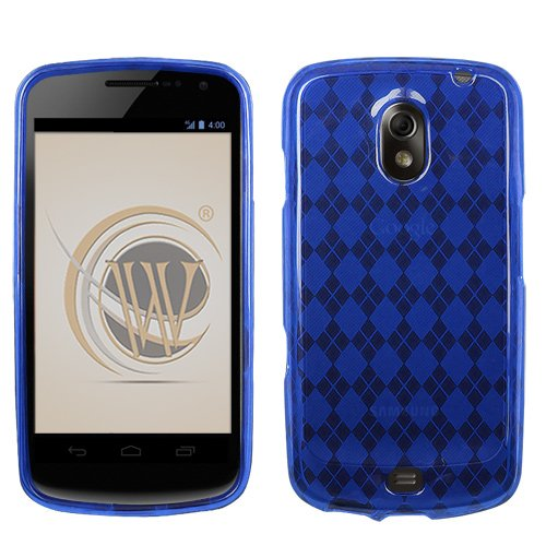 Verizon Samsung Galaxy Nexus SCH-i515 TPU Protector Case - Blue Check