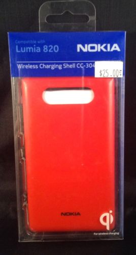 Nokia Lumia 820 Wireless Charging Shell Cover CC-3041 - Red