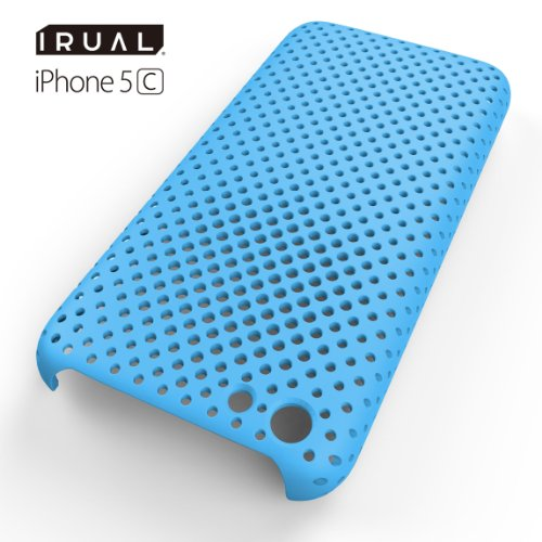 IRUAL Premium Hard Mesh Shell Case for iPhone 5C (Blue)