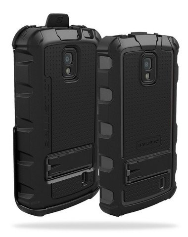Ballistic HA0785-M315 Hard Case with Holster for LG Nitro (LG P960) - 1 Pack - Retail Packaging-Black/Gray