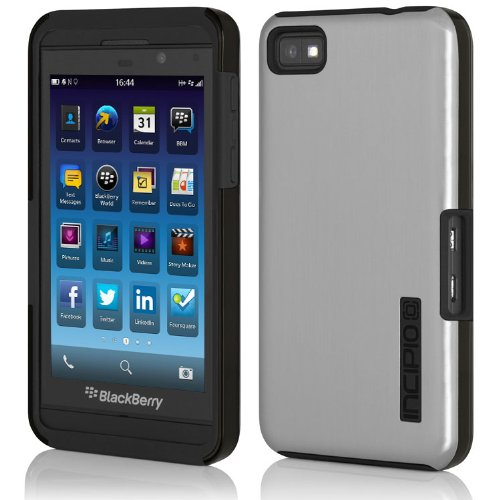Incipio DualPro Shine Case for BlackBerry Z10 - 1 Pack (Silver /Black)