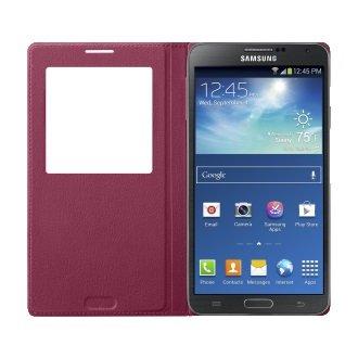 Samsung Galaxy Note 3 S-View Flip Cover Case - Dark Red