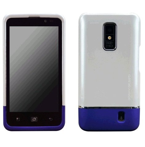 Body Glove LG Spectrum Icon Cell Phone Case White/Purple (9247201)
