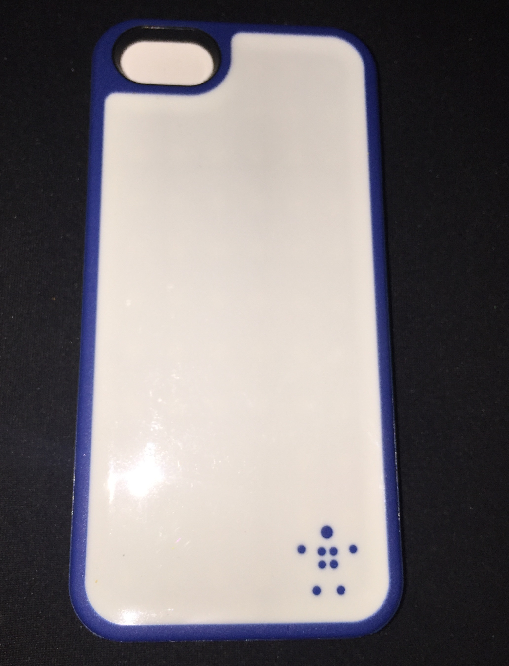 Cricket Belkin Grip Max iPhone White/Blue