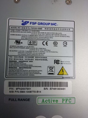 FSP Computer Power Supply FSP200-50MB