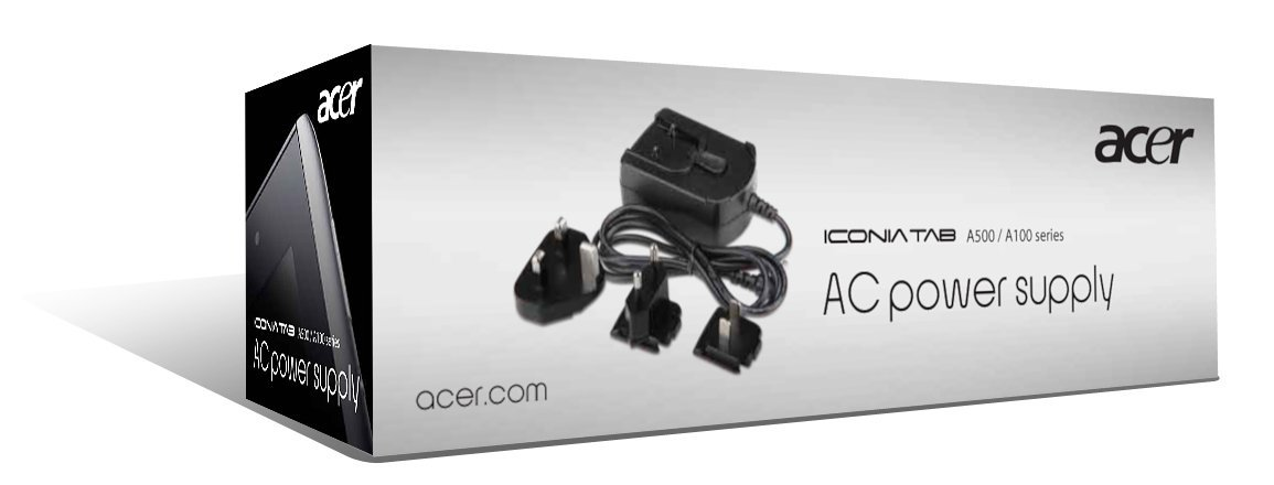 Acer Iconia Tab AC Power Supply - Travel Pack