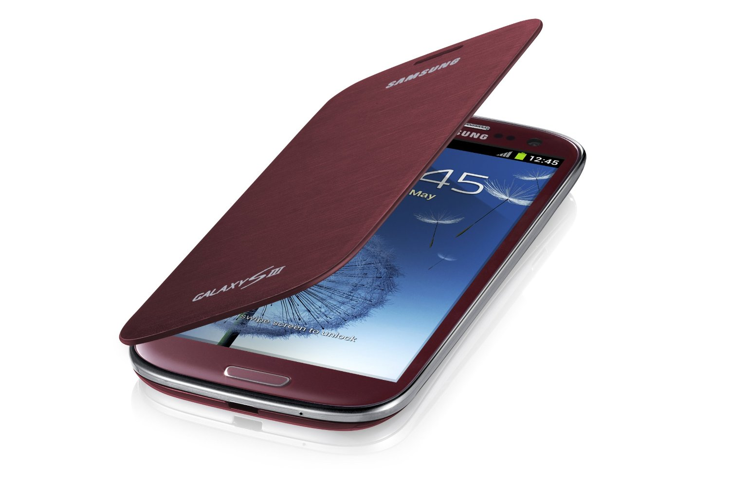 Samsung Galaxy S3 Flip Cover Case (Red) (Discontinued by Manufacturer)