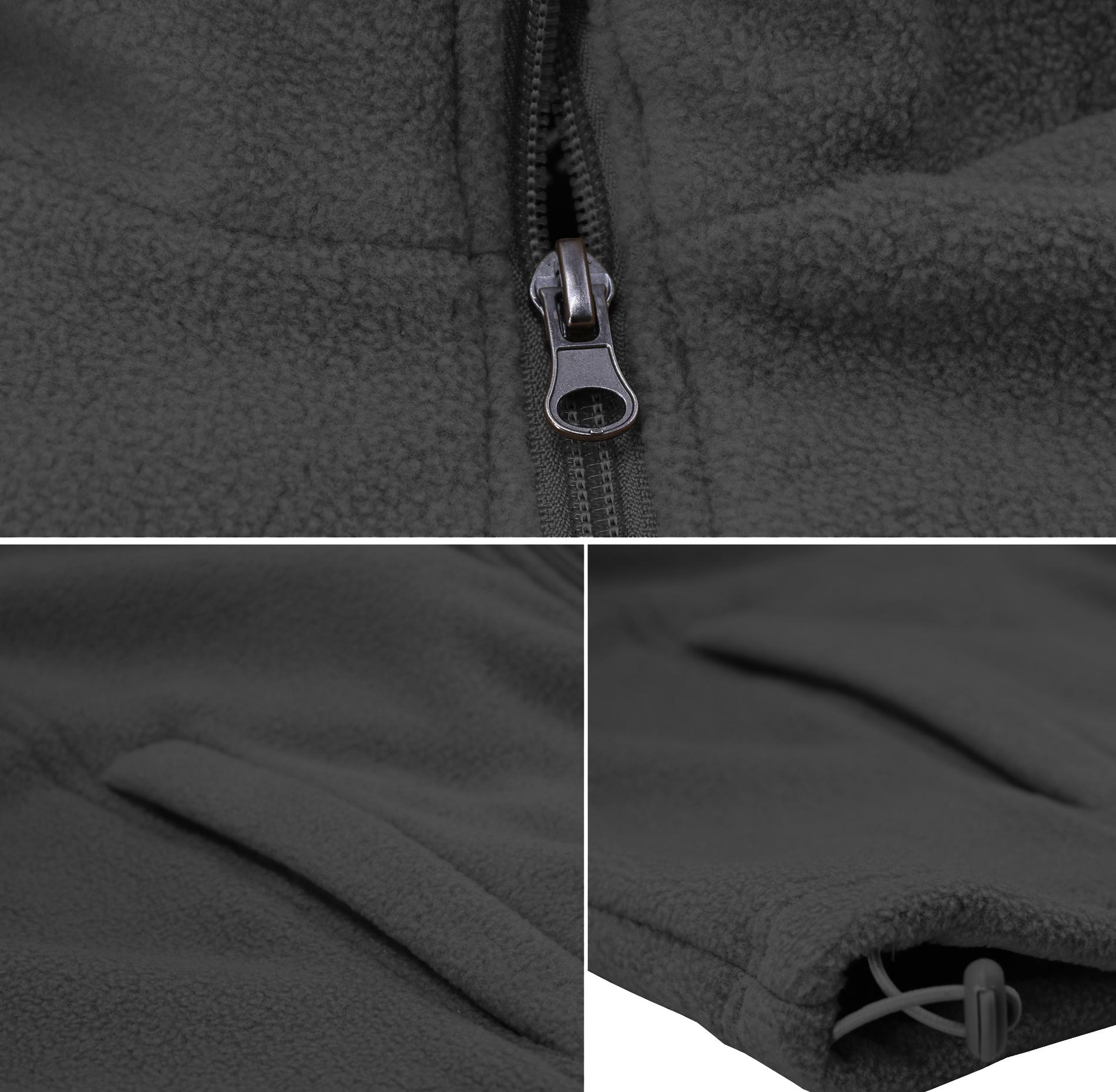 Men/'s  Polar Fleece Lightweight Warm Jacket Collared Full Zip-Up Sweater Vest