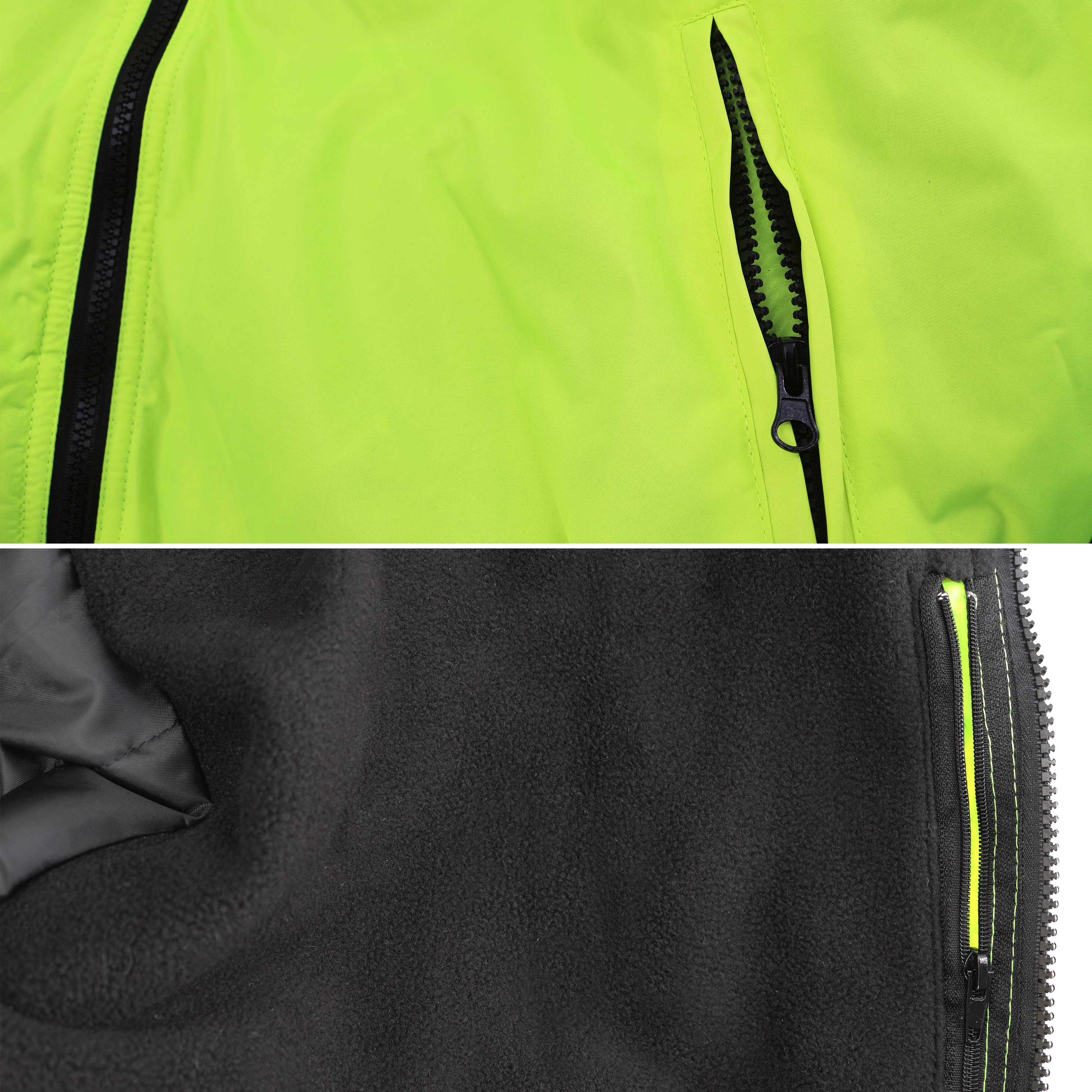 Men/'s Class 3 Safety High Visibility Water Resistant Reflective Neon Work Jacket