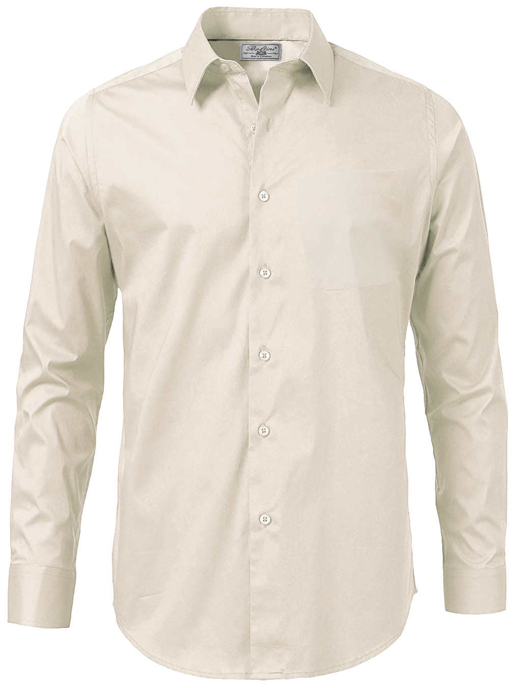 Boltini Italy Men/'s Solid Long Sleeve French Convertible Cuff Dress Shirt