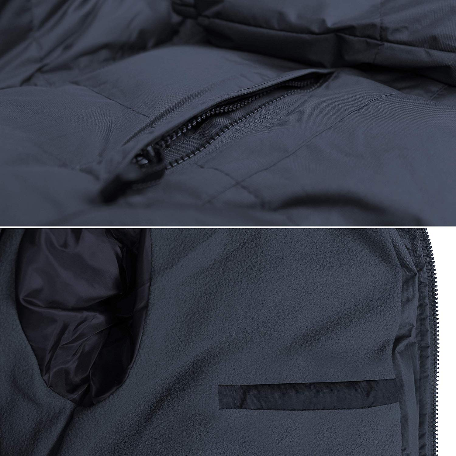 Men's Heavyweight Insulated Lined Winter Jacket with Removable Hood BIGBEAR