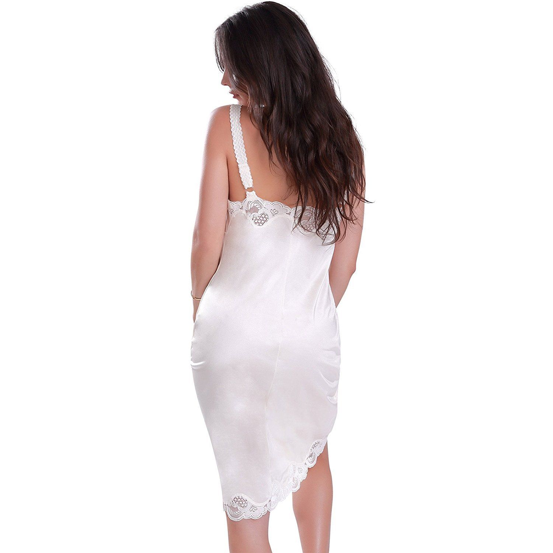 Illusion Women/'s Premium Nylon Full Slip With Lace Trim Adjustable Straps 2012